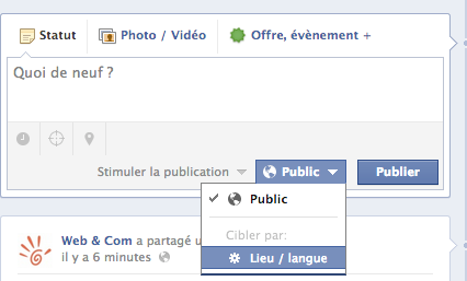 fonction multilingue facebook