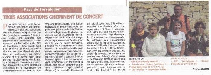 Septembre 2017 - Haute-Provence-Info - Randonnée Amicale Des Trois Associations