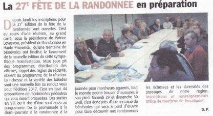 Avril 2017 - Haute-Provence-Info - Préparation de la Fête de la Randonnée 2017