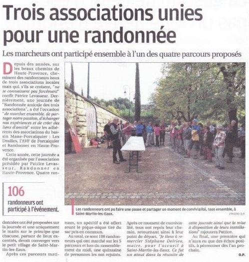 Septembre 2017 - La Provence - Randonnée Amicale Des Trois Associations