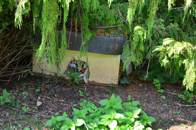 Diese Igelhäuser finden sich überall in dem riesengroßen Garten wieder