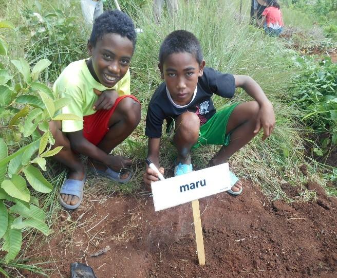 マダガスカルで始まった植林活動に参加する子どもたち