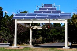 お台場潮風公園に完成した都民共同発電所「ひだまり~な」