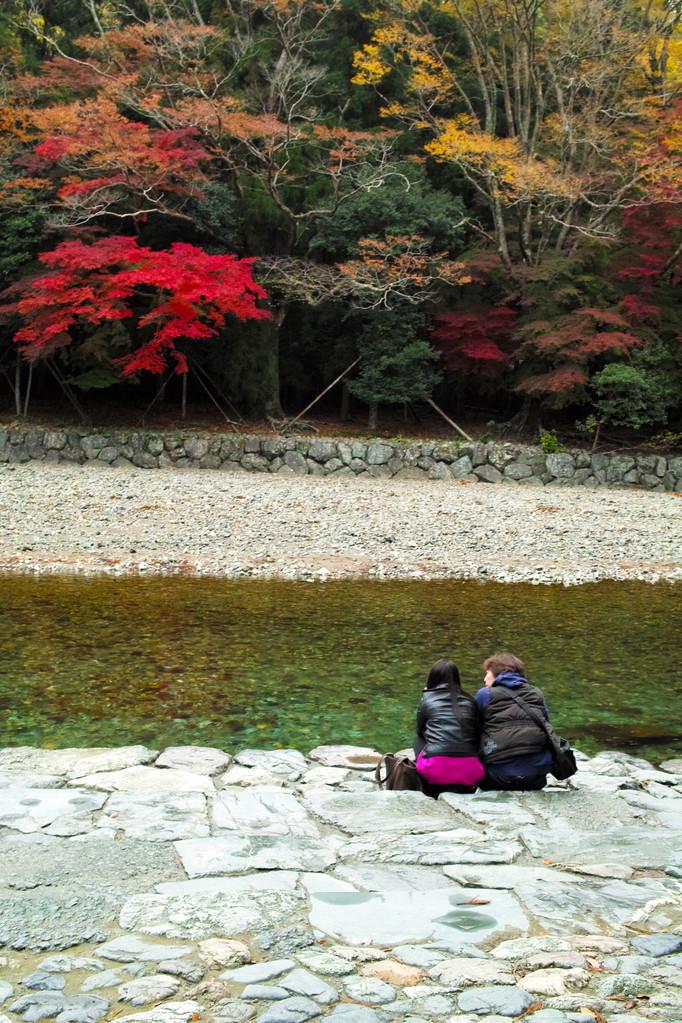 五十鈴川の畔での〜んびり