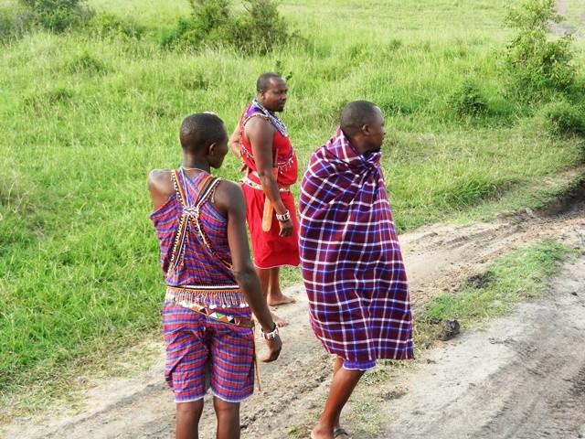 Massais in the Massai Mara