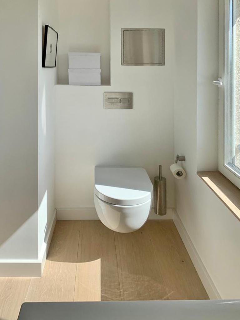 WC, Drückerplatte, Accessoires