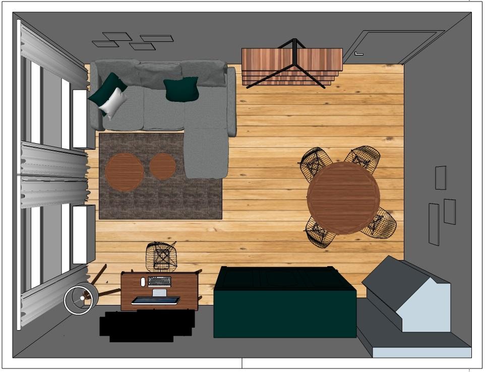 Einrichtung privates Wohnzimmer