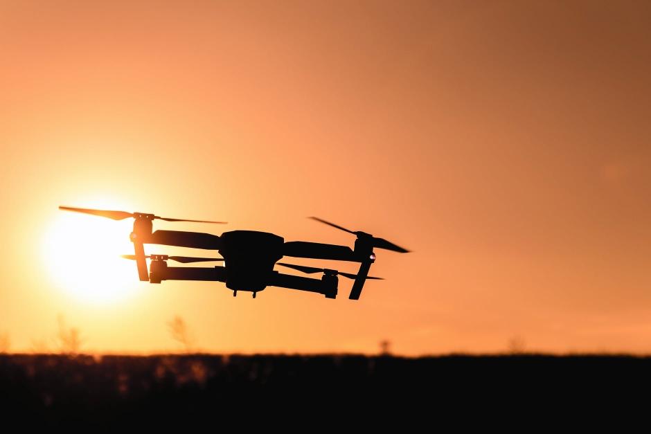 Eine Drohne im Einsatz. Tolle Aufnahmen lassen sich so einfangen.