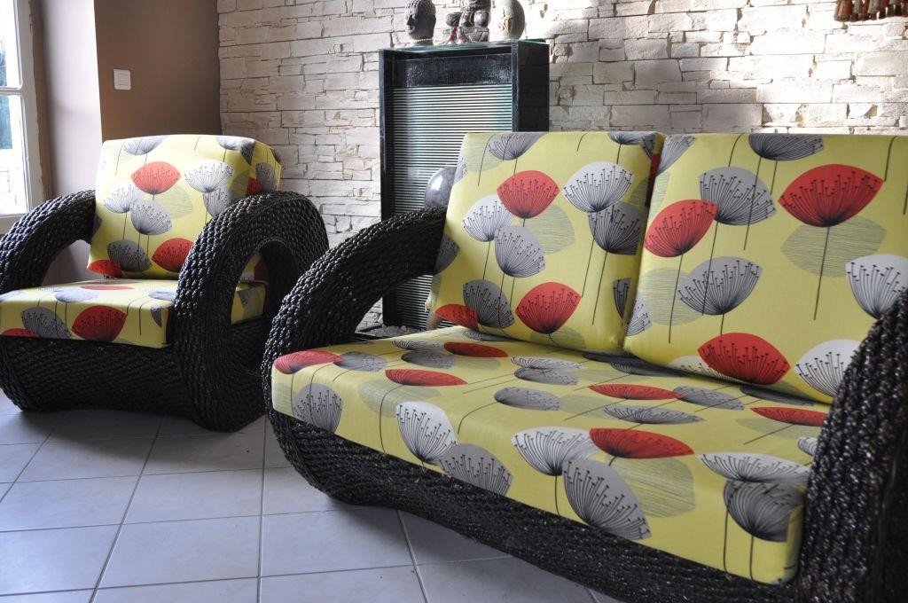 Canapé et fauteuils ethniques