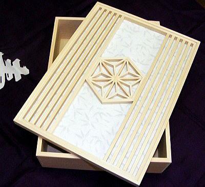 伝統の麻の葉文様を使った小箱