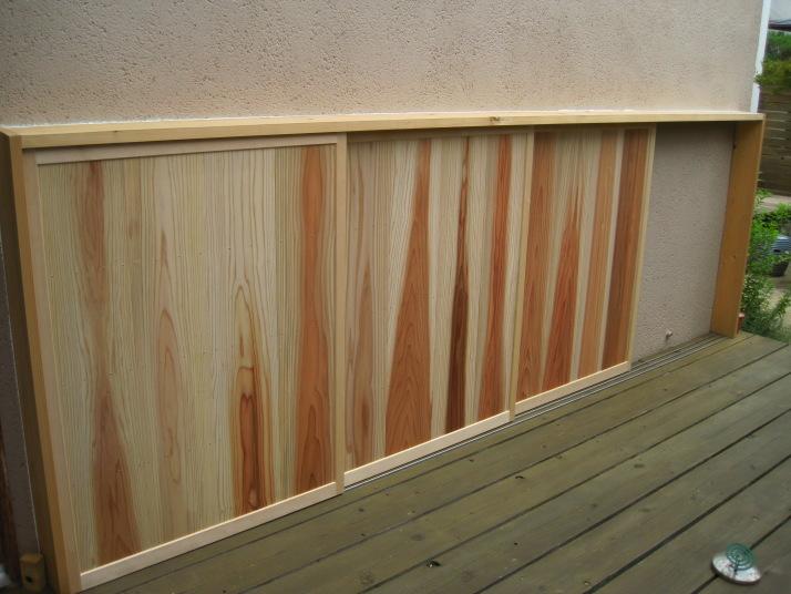 杉無垢板貼り戸