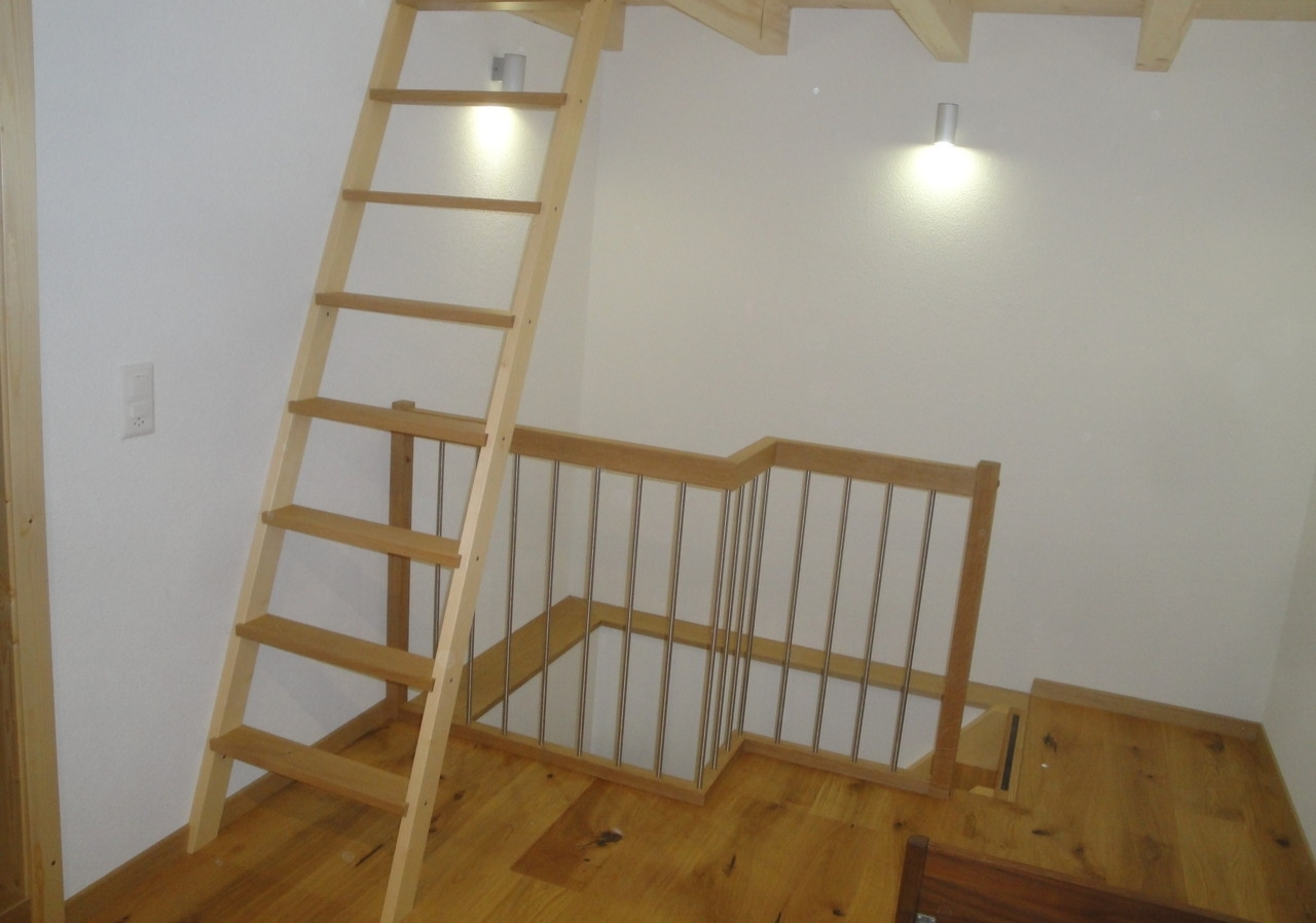 Treppe in Umbau Ferienhaus, Linthal