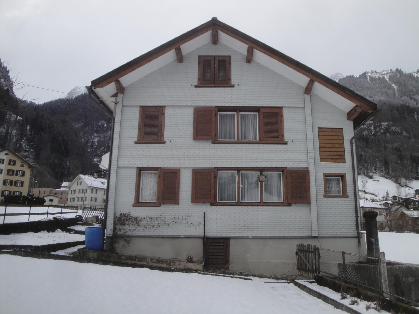 Einfamilienhaus vorher, Luchsingen