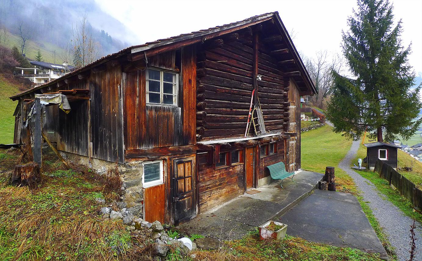 Umbau Stall zum Wohnhaus vorher, Luchsingen