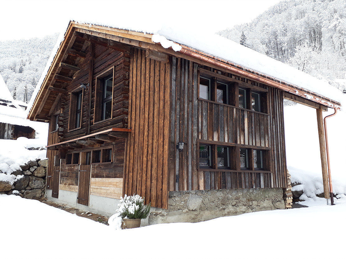 Umbau Stall zum Wohnhaus nachher, Luchsingen