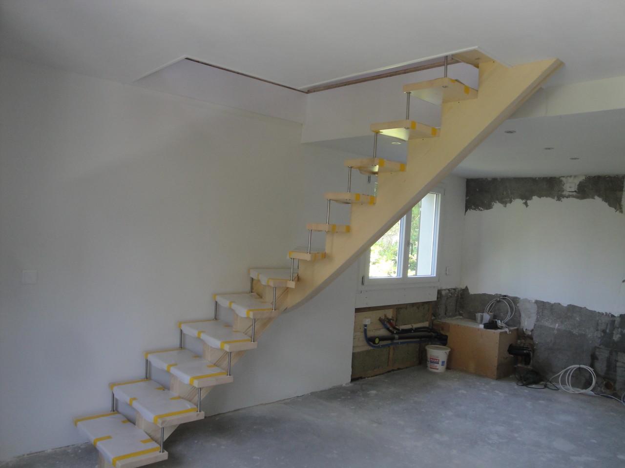 Treppe in Umbau Einfamilienhaus, Mollis