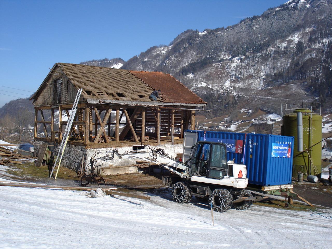 Stall vorher, Glarus
