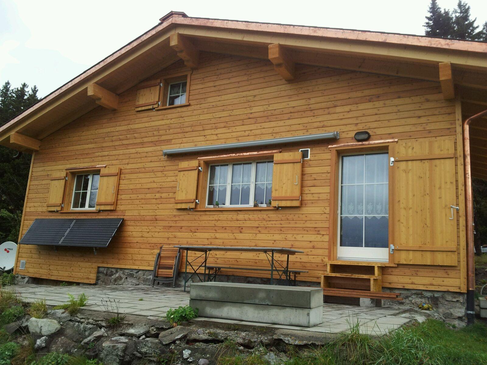 Wiederaufbau Ferienhaus Weissenberge, Matt