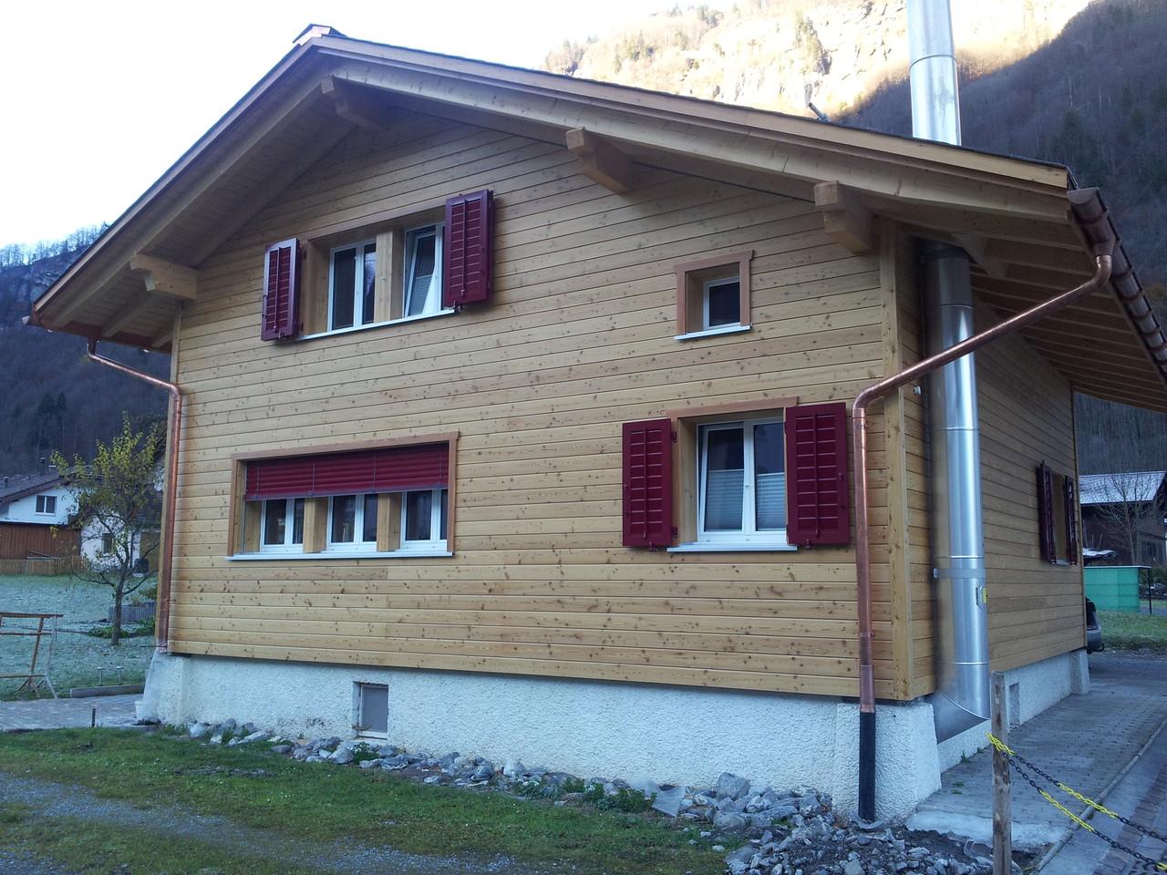 Fassade Einfamilienhaus neu, Linthal