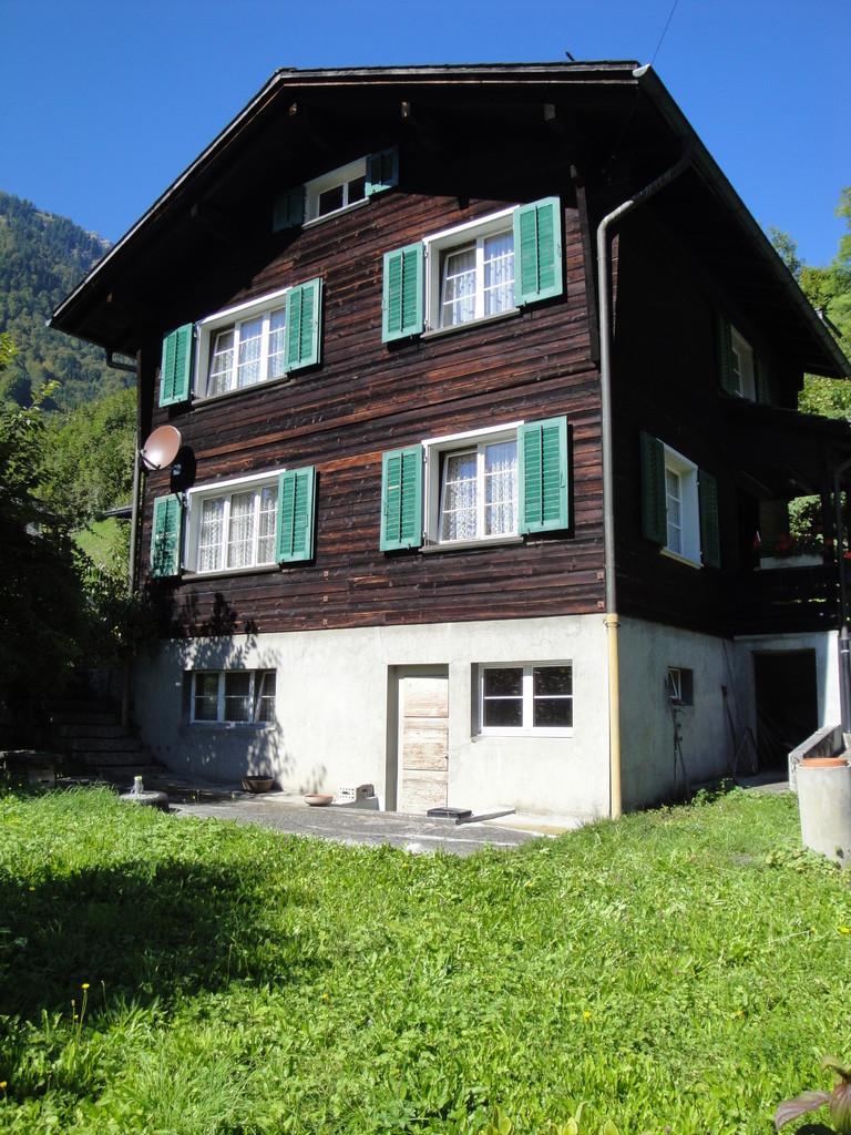 Fassade Einfamilienhaus vorher, Schwanden