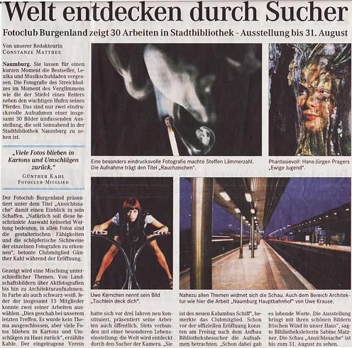 Ausstellung in der Stadtbibliothek - NMBTageblatt 05/2007