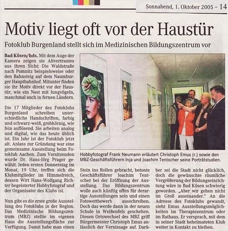 Medizinischen Bildungszentrum in Bad Kösen. MZ Artikel 10/2005