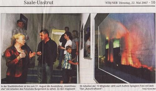 Austellung in der Stadtbibliothek - NMB Tageblatt 05/2007