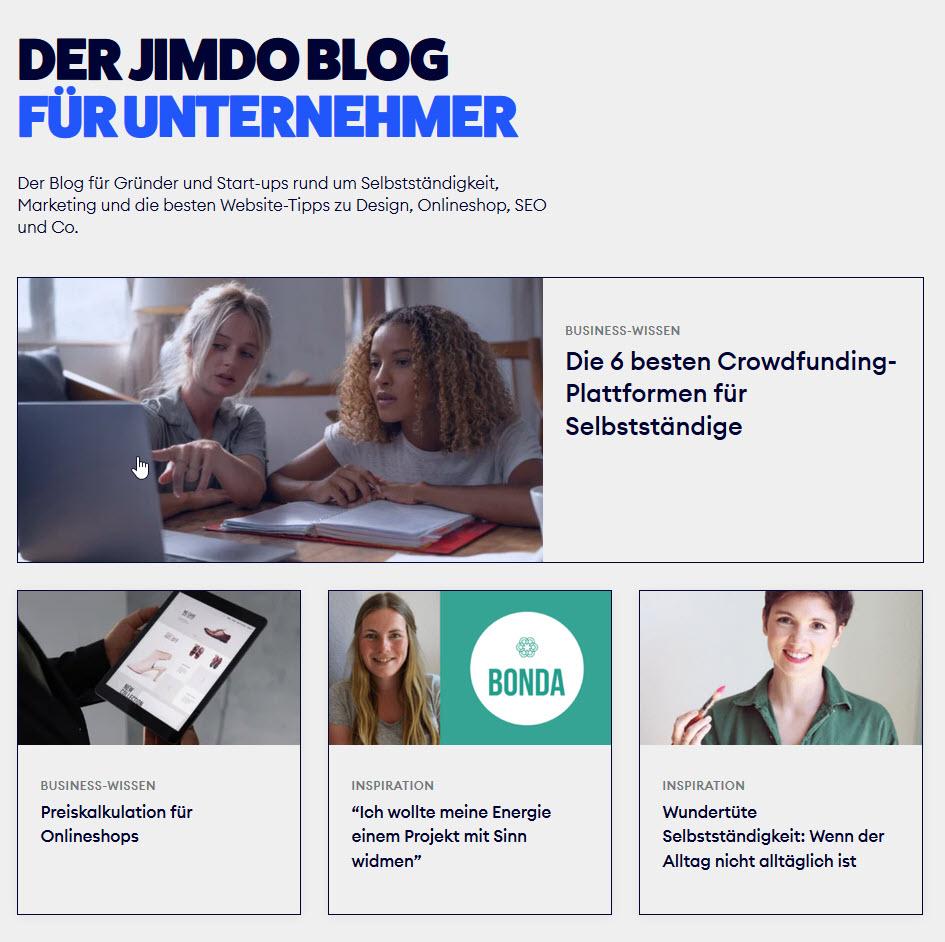 Bock auf Blog? Der Jimdo Blog für Unternehmer