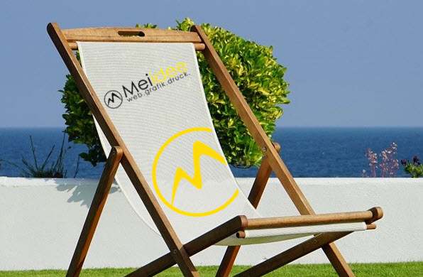 Sommer, Sonne, Sonnnenschein: Bedruckte Liegestühle mit Deinem Logo und mehr