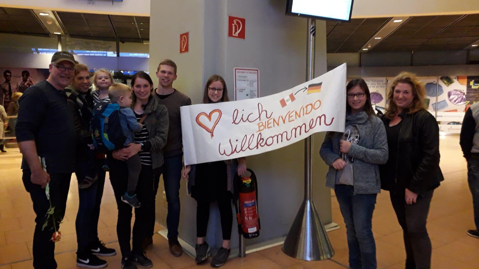 Netter Empfang am Hamburger Flughafen...