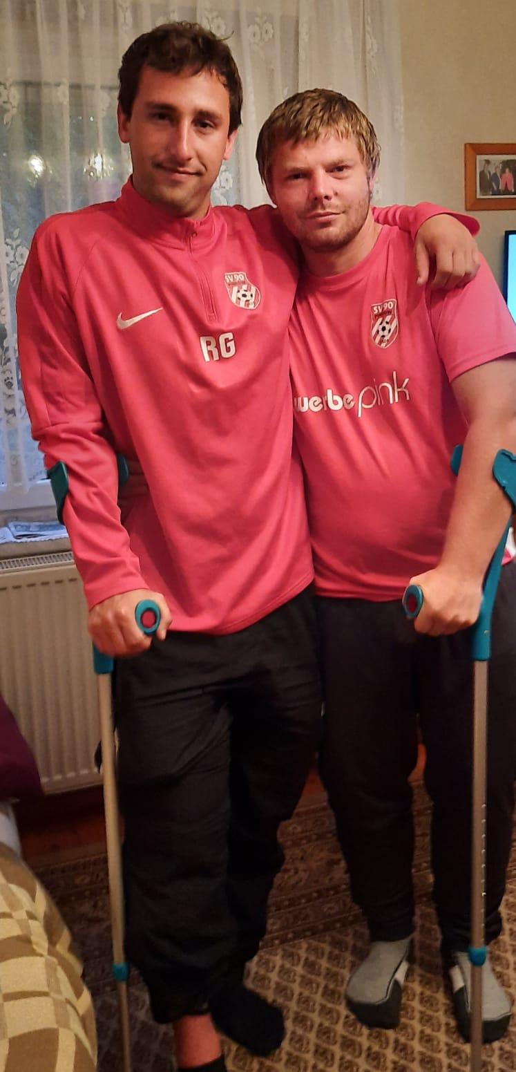 Eric Podschadel (links) und Robby Gäbler (rechts) - Spaß muss sein!