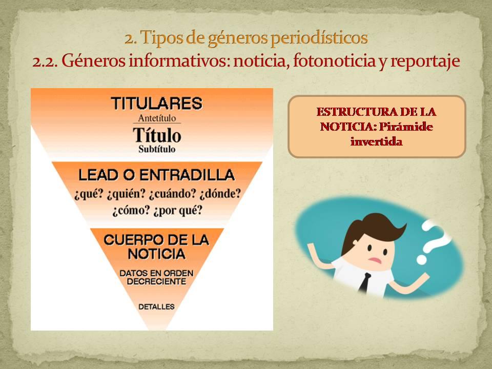 Géneros Periodísticos Página Web De Secundariapacheco