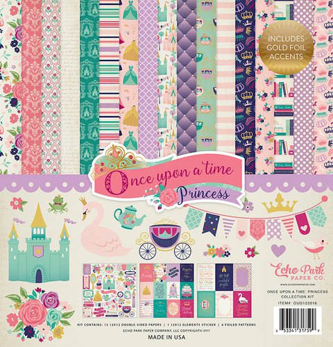 Echo Park - Once Upon A Time Collection - Princess - 30cm  x 30cm  Collection Kit