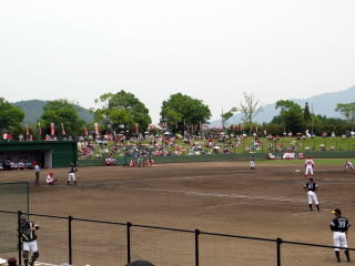 (山口県にある由宇練習場。2軍選手も頑張っています)