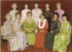 1982年税所百合子さんが日本人初のPI役員として就任(前列左端)