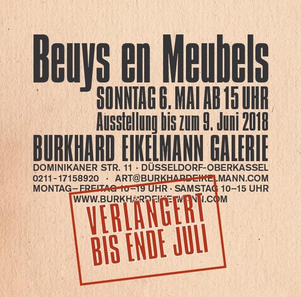 Ausstellung Burkhard eikelmann Galerie, Beuys en Meubels