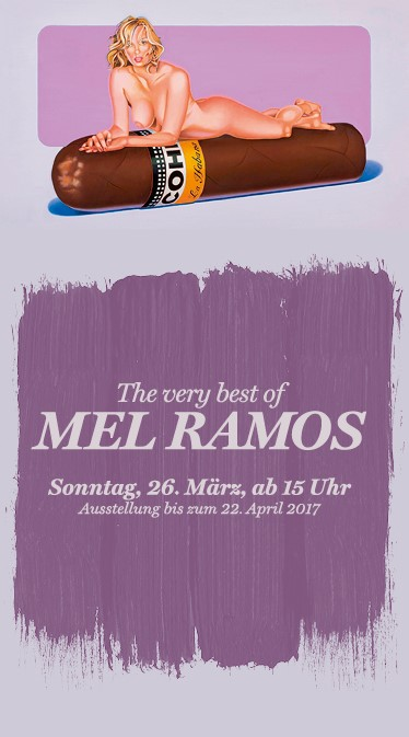 Ausstellung Burkhard eikelmann Galerie, The very best of Mel Ramos