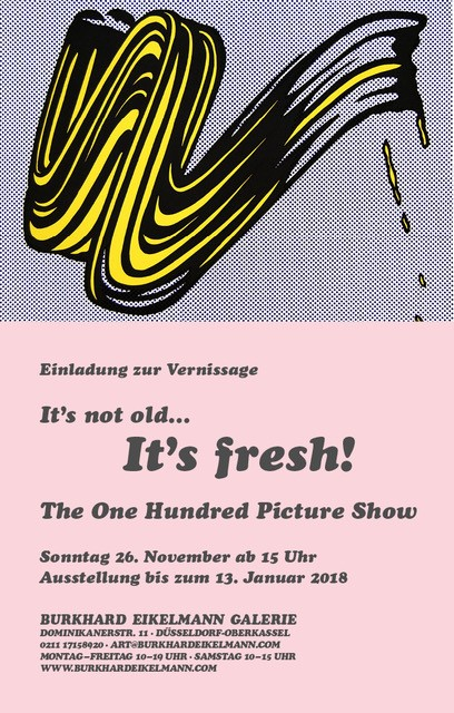 Ausstellung Burkhard eikelmann Galerie, It's not old... It's fresh!
