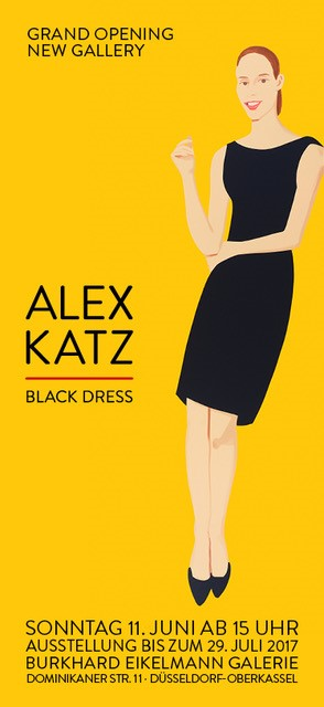 Ausstellung Burkhard eikelmann Galerie, Alex Katz - Black Dress