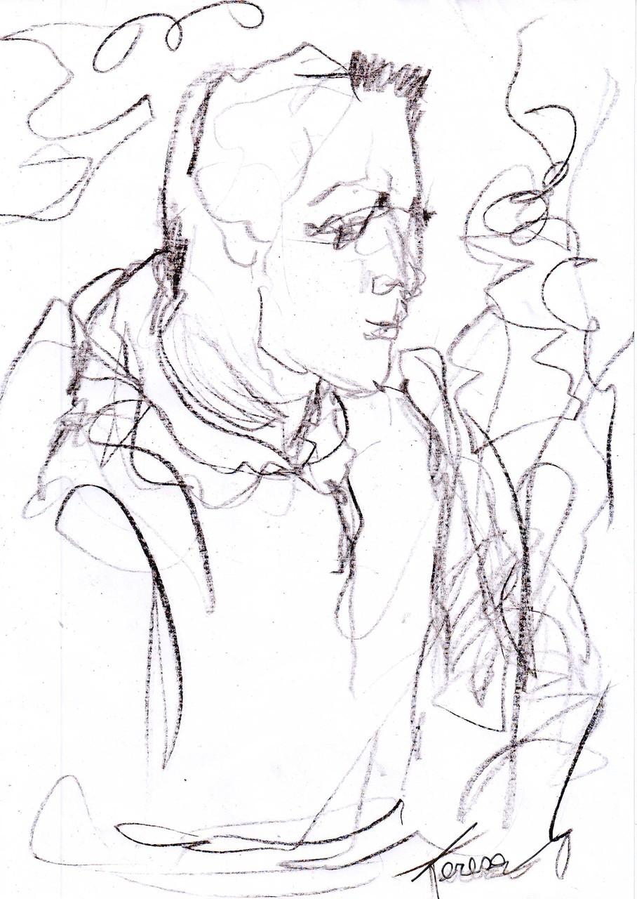 Teresa (disegno di un raccoglitore..)