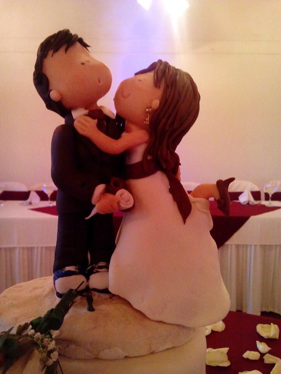 muñecos personalizados ponqué boda Cajicá