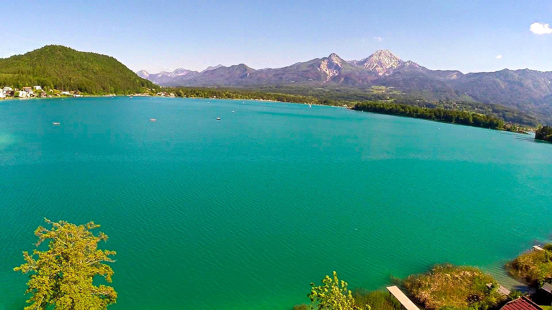 See und Berge von oben