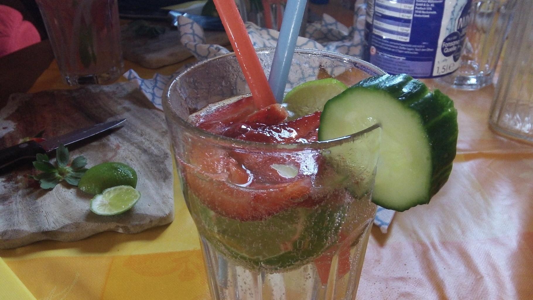Erdbeer - Gurke - Limette