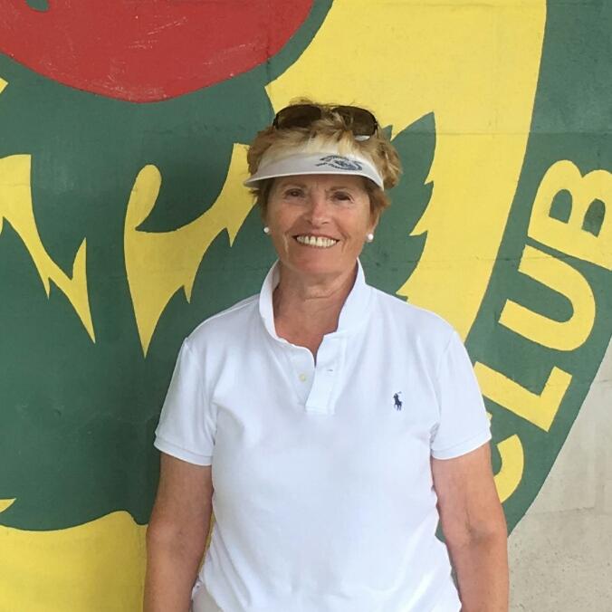 Women's singles champion, Cathy O'Brien