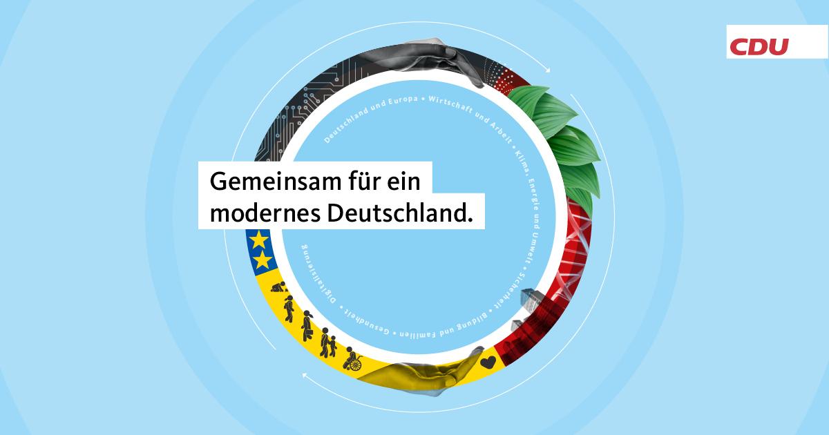 Ein guter Plan für Deutschland. Das Programm für Stabilität und Erneuerung.