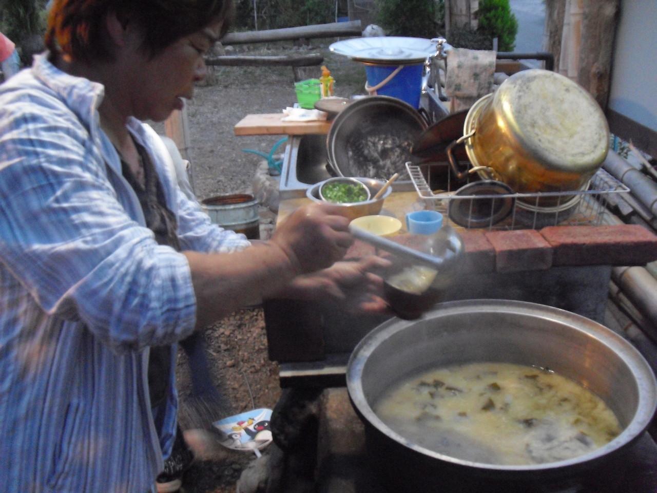 ふじっころ手作りの味噌で作った味噌汁。