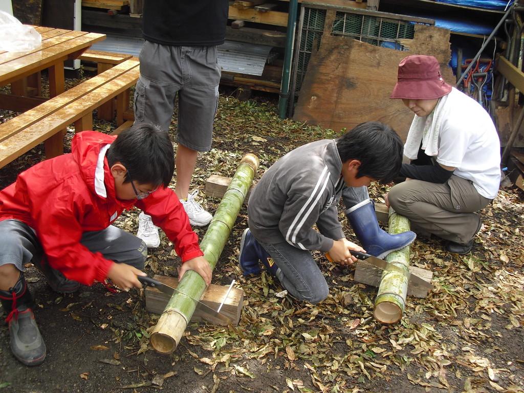 ふじっころ村で収穫したものを頂く際に箸が必要なので、今日はMY箸を作ろうと思います。