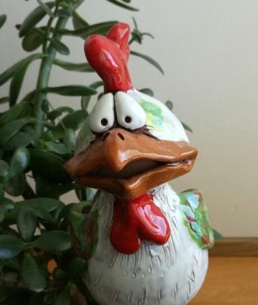 Keramikfigur Hahn