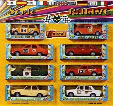 Caja con los ocho modelos de 1972-73, ref. 500