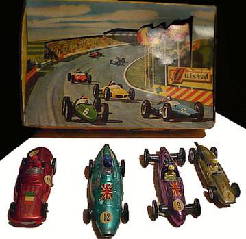 De izda. a dcha.: Gordini, Vanwall F1, Cooper Norton y Cooper 1500 cc.